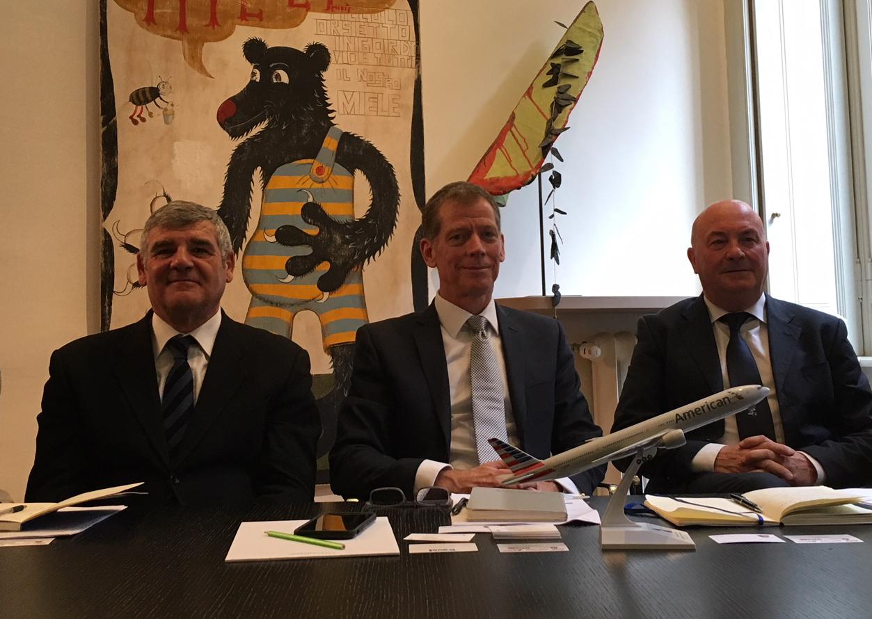 Da sinistra, Angelo Camilletti, Tom Lattig e Roberto Antonucci
